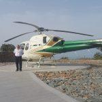 Helipad for private transfers in Kea