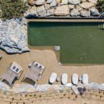 Salted pool at villa Nomios