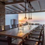Private dining in Kea Island