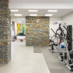 Private gym with modern design
