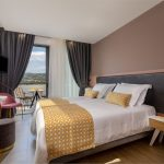 Twin bedroom with mountain Psiloritis view
