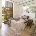 Bedroom with boho style