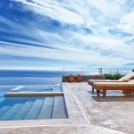 Sunbeds at the Infinity pool