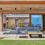 The elegant exterior deck at Octo