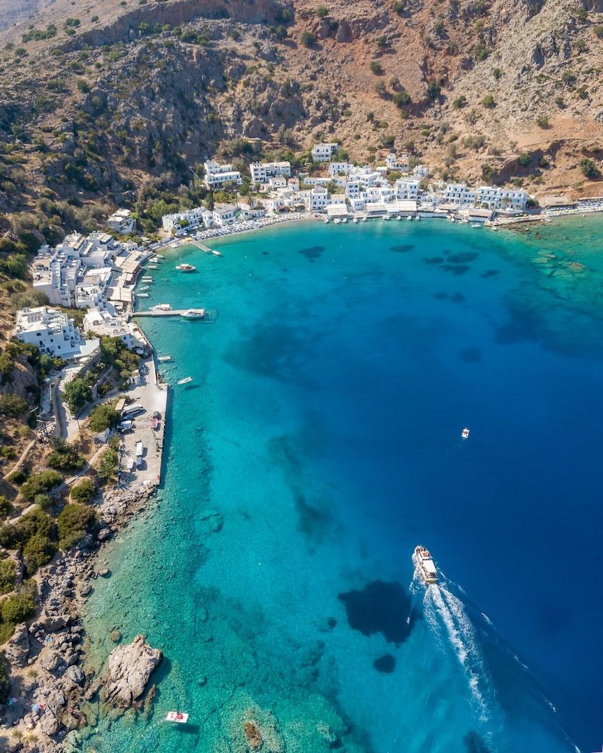 Loutro beach in Crete