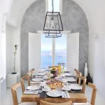 Dining table at villa Nafsika
