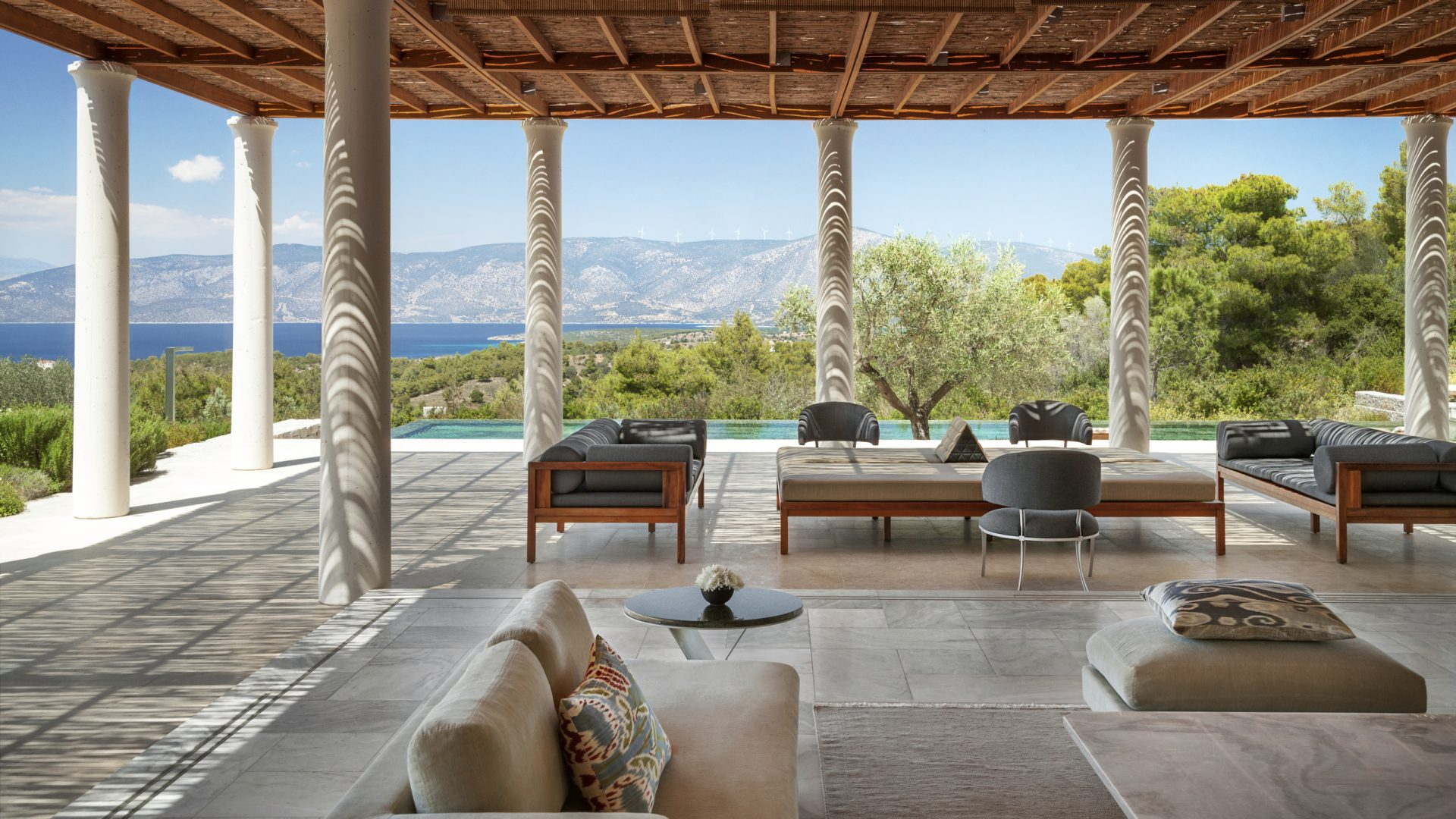 Amanzoe, Greece - Living Room and Lounge, 5 Bedroom Villa