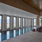 Indoor swimming pool with high-end piece of art