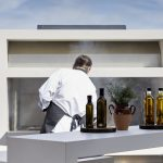Private chef in the kitchen by the pool