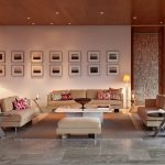 Large living area with wooden details and high-end decor