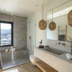luxury bathroom in the master bedroom