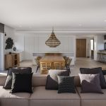 Living and dining spaces at Villa Infinity