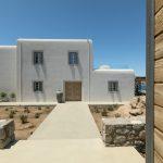 Villa Entrance with Cycladic art