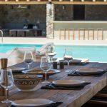 Enjoy lunch with friends at luxury villa in Mykonos