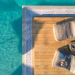 Pool deck in villa Moni in Aleomandra Mykonos