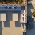 Lounge area in the pool deck of villa in Mykonos