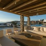 Outdoor dining area at the luxury villa in Mykonos