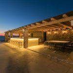 Area for party at villa Moni in Mykonos