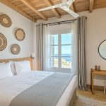 Bedroom with wooden details