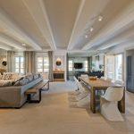 Chic interior design at villa Moni in Mykonos