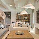 Living room design at luxury villa in Mykonos