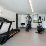 Fitness room at villa Faragas in Paros