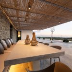 Outdoor Dining table and night lighting