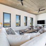 Spacious living area at villa Faragas
