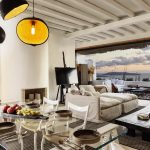 indoor living room at villa Escape in Mykonos
