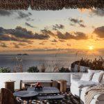 sunset at villa Escape in Mykonos