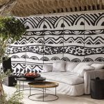 black & white in the outdoor lounge