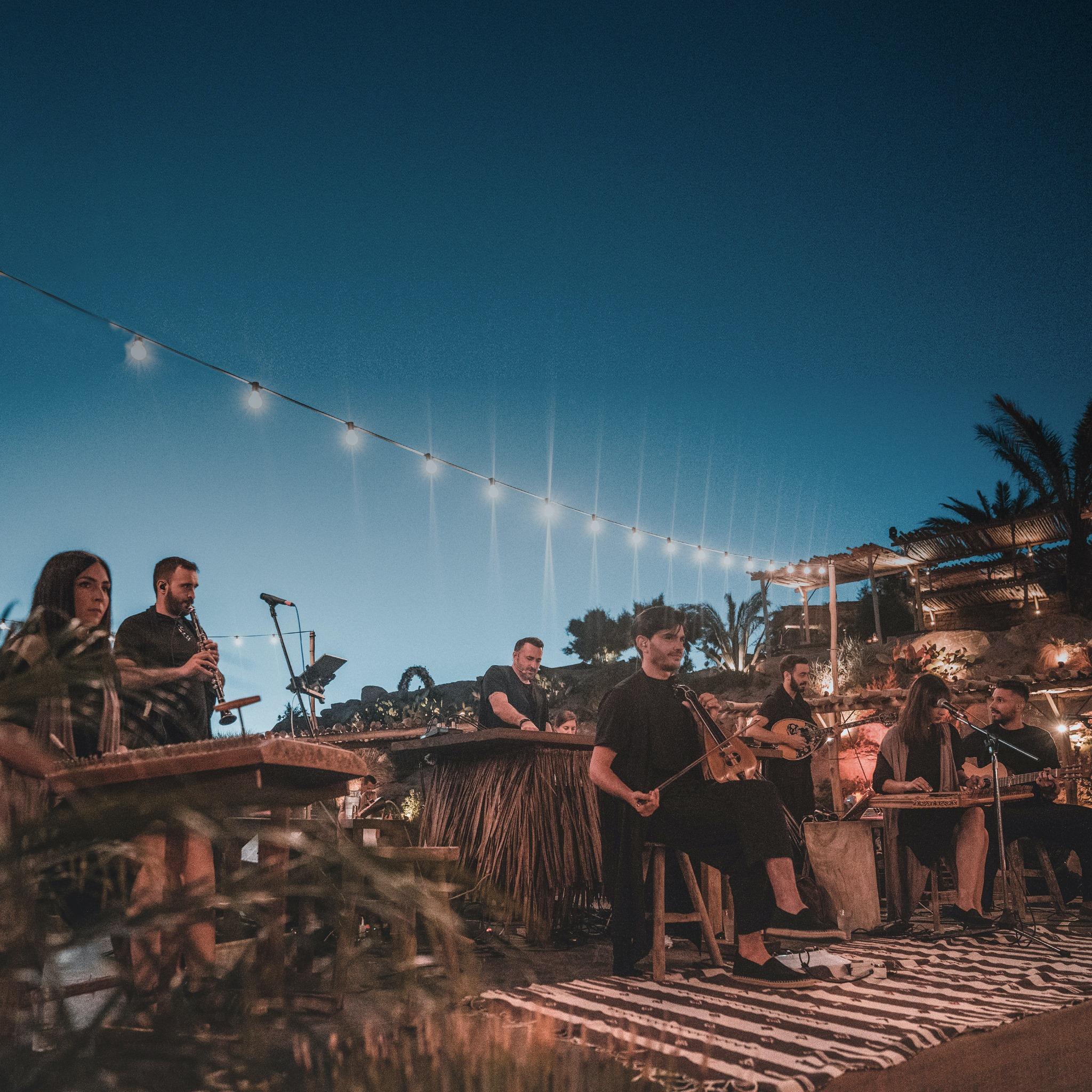 Valeron & the band in Mykonos